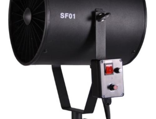 Ventilador turbo para foto e vídeo